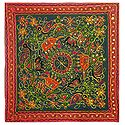 Embroidered Cloth with Animal Design - Wall Hanging