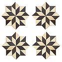 Set of 4 Octagonal Shaped Wooden Coasters