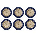 Set of 6 Hand Woven Grass Fibre Table Coasters
