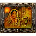 Rajasthani Beauty Waiting for Lover- Wall Hanging