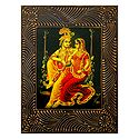 Radha Krishna on a Swing - Deco Art Wall Hanging