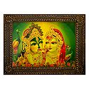 Radha Krishna - Divine Lovers - Deco Art Wall Hanging