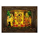 Dwarkadheesh with Krishna and Sudama - Deco Art Wall Hanging