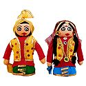 Bhangra Dancers Doll - Set of 2