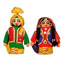 Bhangra Dancers - Set of 2 Cloth Doll