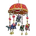 Decorative Door Hanging with Cute Animals and Beads