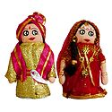 Marwari Bride and Bridegroom Doll - Set of 2