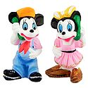 Mickey and Minnie on Telephone - Set of 2