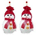 Snowman for Christmas Decoration - Set of 2 - Wall Hanging