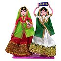 Pair of Gujarati Women - Wire Doll