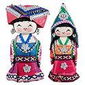 Set of 2 Chinese Costume Dolls