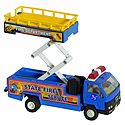 Blue with Yellow Acrylic Transportable Toy Crane