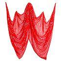 Tie and Dye Saffron Chiffon Chunni
