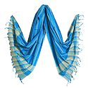 Blue Striped Handloom Cotton Dupatta