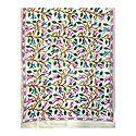 Kantha Embroidery on Off-White Tussar Silk Dupatta