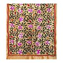 Kantha Embroidery on Beige Tussar Silk Dupatta