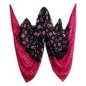Dark Brown with Pink and White Bandhni Cotton Dupatta
