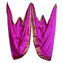 Art Silk Magenta Bandhej Chunni with Zari Border