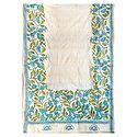 Kantha Embroidery on Off-White Tussar Dupatta