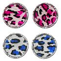 Set of 2 Pairs Colorful Acrylic Disc Earrings