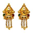 Gold Plated Metal Earrings