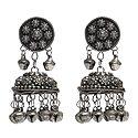 Oxidised Metal Jhumka Earrings