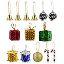 Set of Colorful Assorted Synthetic Christmas Tree Hangings