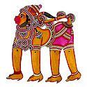 Hand Painted Hanuman - Perforated Leather Hanging Puppet from Andhra Pradesh