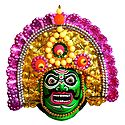 Bhima Chhau Dance Mask - Unframed Photo Print on Paper