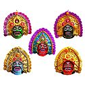 Chhau Dance Masks - Unframed Photo Print on Paper