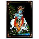 Cowherd Krishna - Nirmal Painting on Wood