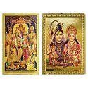 Shiva Family and Ram Darbar - Set of 2 Magnets