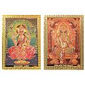 Lakshmi  and Ganesha - Set of 2 Magnets