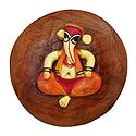 Stone Dust Ganesha on Wooden Base - Magnet