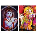 Bal Gopal and Radha Krishna - Set of 2 Magnets