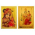 Radha Krishna - Set of 2 Metal Magnets