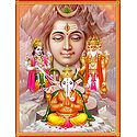 Brahma, Vishnu Shiva and Ganesha