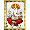 Lord Vinayak - Framed Table Top Picture