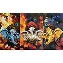 Three Cute Ganesha Faces