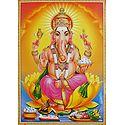 Ganesha Sitting on Lotus