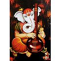 Ganesha Playing Tanpura