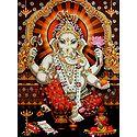 Lord Ganapati - Glitter Poster