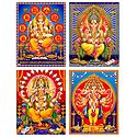 Set of 4 Ganesha Posters