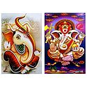 Lord Ganapati - Set of 2 Posters