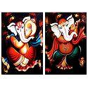 Musician Ganesha - Set of 2 Posters