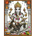 Ganesha with Modakas