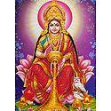 Dhana Lakshmi - Glitter Poster