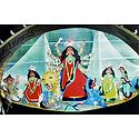 Mahishasuramardini Durga with Her Children on a Boat