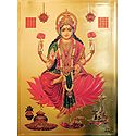 Goddess Lakshmi - Golden Metallic Poster