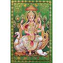 Goddess Saraswati Sitting on Swan